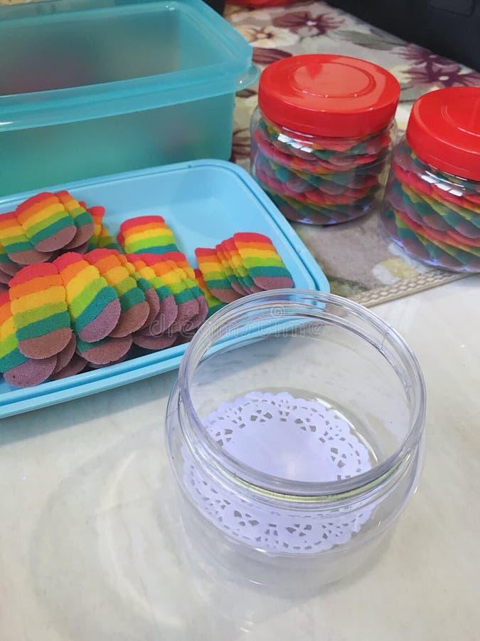 Biscuits d'arc-en-ciel photo libre de droits