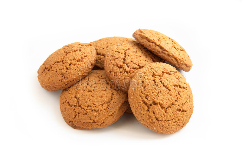 Biscuits d'avoine photo stock