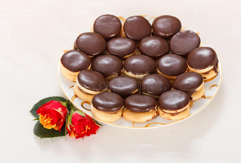 Biscuits d'Ischler photo stock