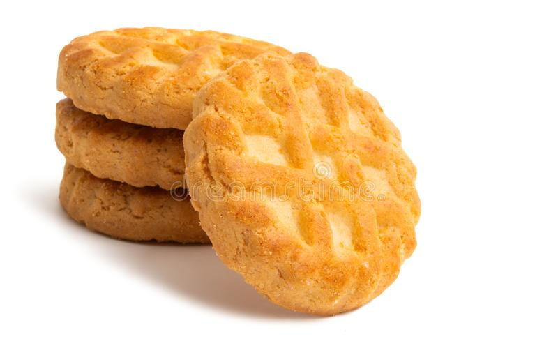 Biscuits d'isolement image stock