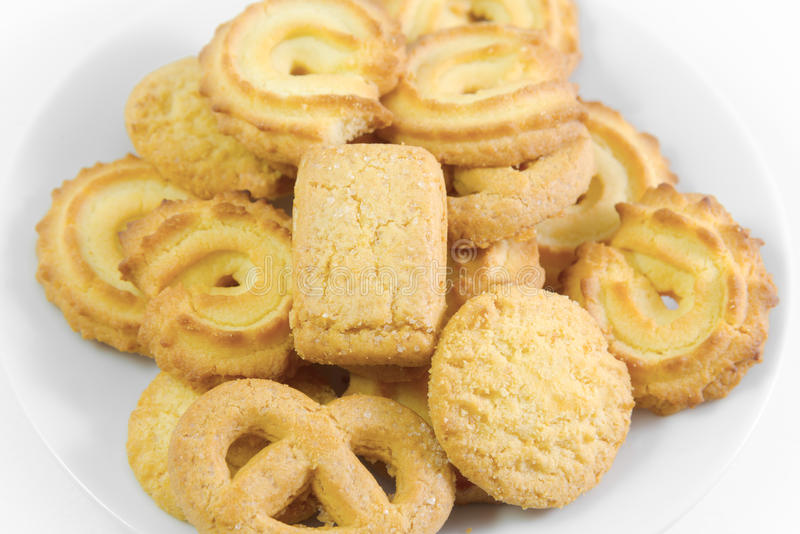 Biscuits danois de plat image libre de droits