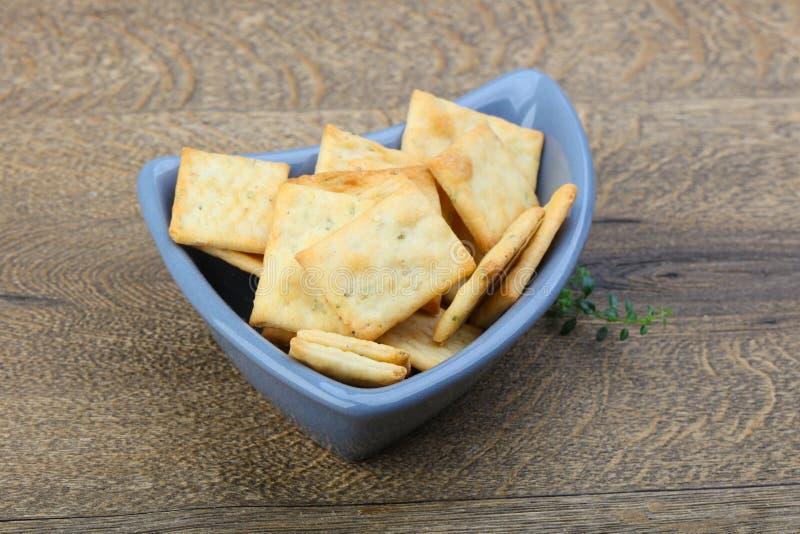 Biscuits dans la cuvette image libre de droits