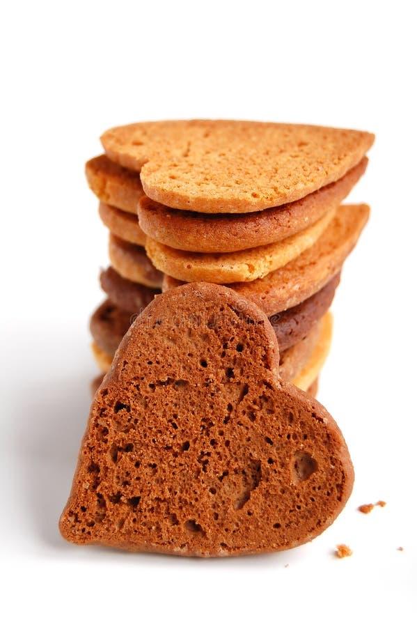 Biscuits dans la forme de coeur photo stock