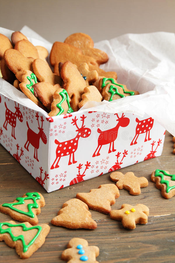 Biscuits dans un cadre photo stock