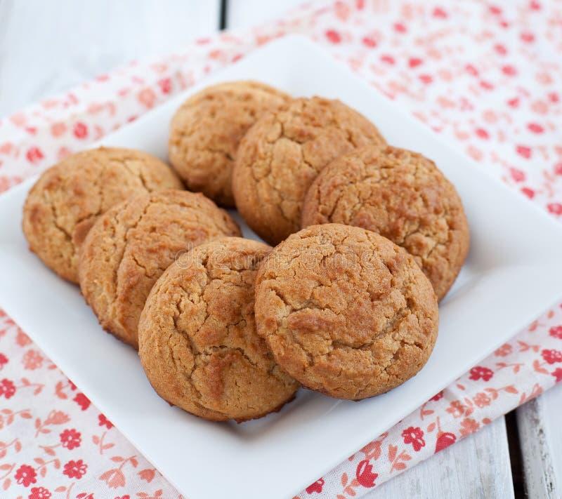 Biscuits de beurre d'arachide photos libres de droits