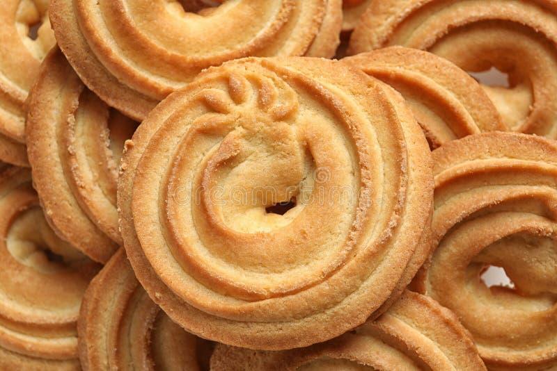 Biscuits de beurre danois délicieux comme fond images stock