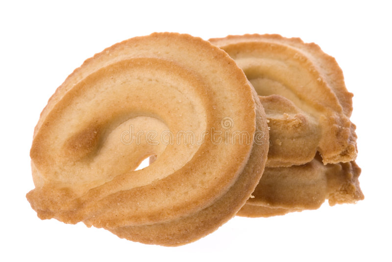 Biscuits de beurre macro photo libre de droits