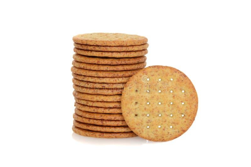 Biscuits de blé photographie stock libre de droits