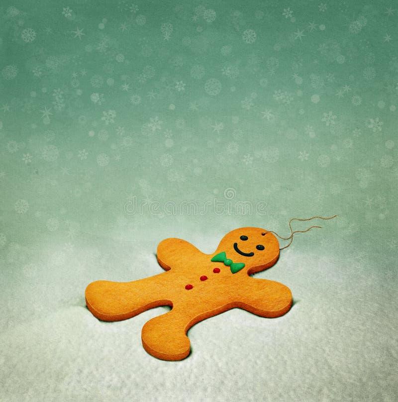 Biscuits de bonhomme en pain d'épice illustration libre de droits