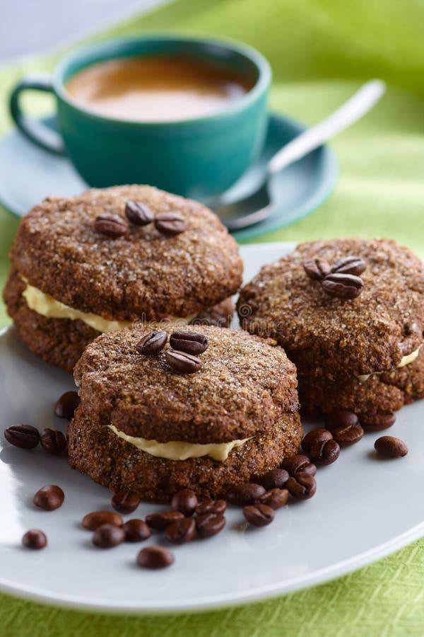 Biscuits de café images stock