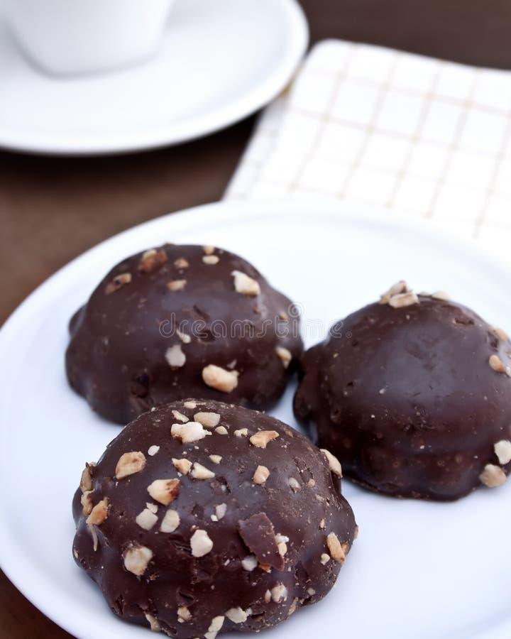 Biscuits de chocolat photographie stock libre de droits