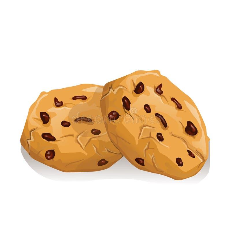 Biscuits de chocolat illustration stock