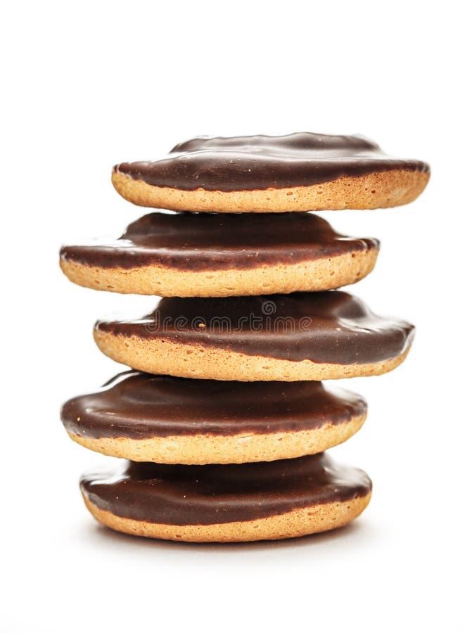 Biscuits de chocolat avec remplir photos libres de droits