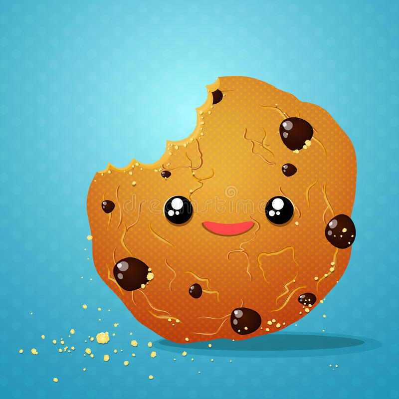 Biscuits de chocolat de morsure illustration stock