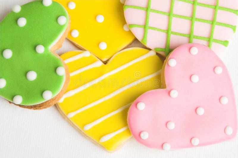 Biscuits de coeur photo libre de droits
