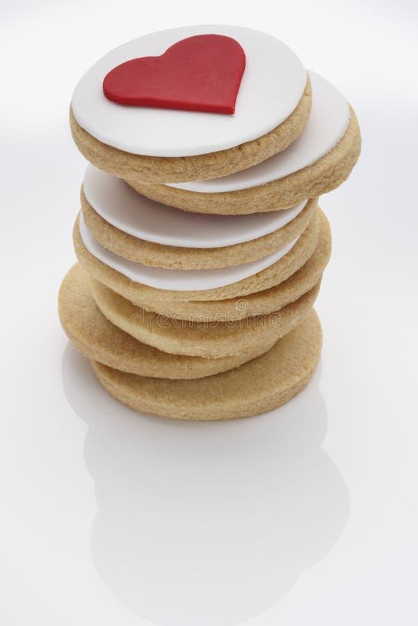 Biscuits de coeur d'amour photo stock