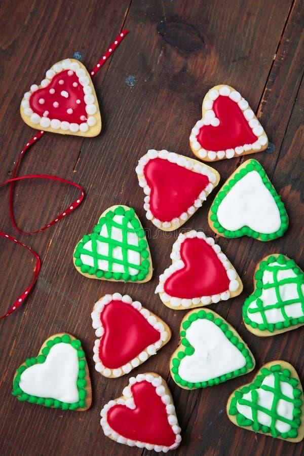 Biscuits de coeurs photographie stock libre de droits