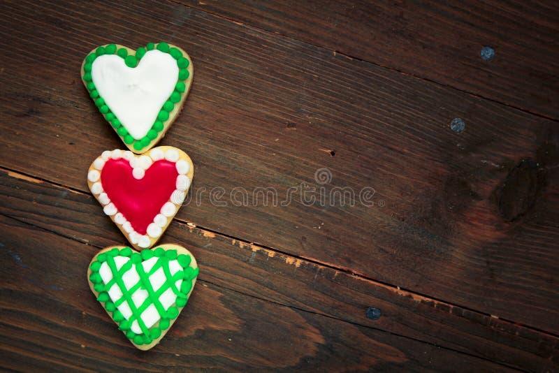 Biscuits de coeurs photographie stock