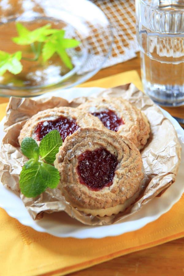 Biscuits de confiture photographie stock libre de droits