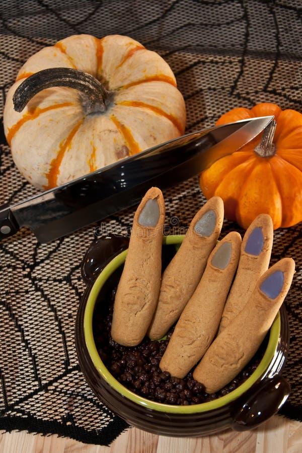 Biscuits de doigt de Halloween photo libre de droits