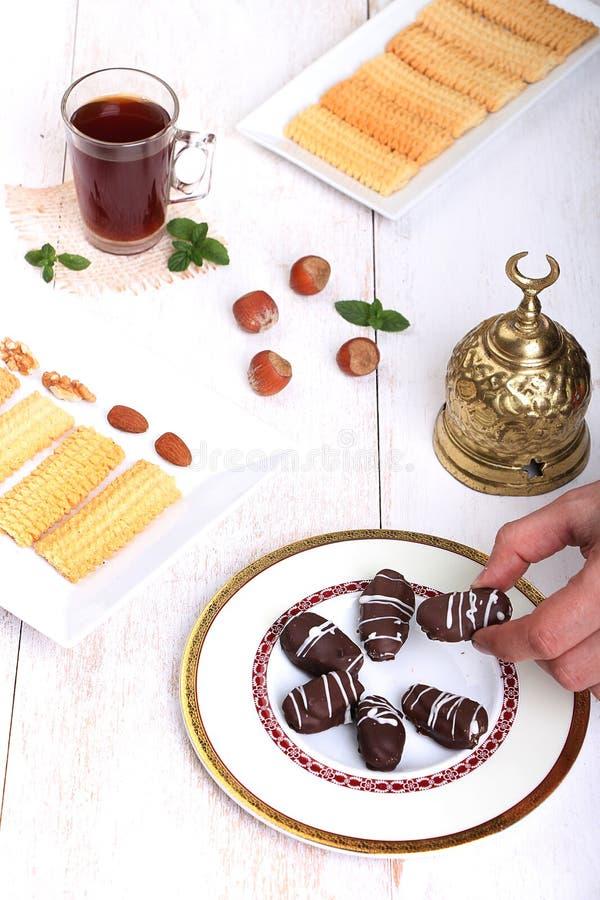 Biscuits de festin islamique d'EL Fitr images stock