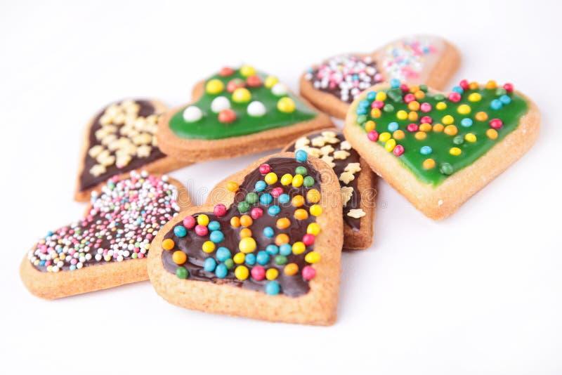 Biscuits de forme de coeur images stock