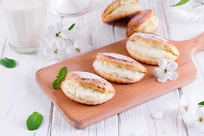 Biscuits de fromage blanc images libres de droits