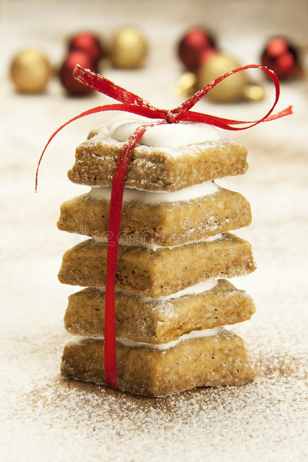 Biscuits de gingembre de Noël photos libres de droits