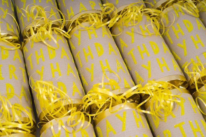 Biscuits de joyeux anniversaire image stock