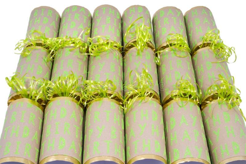 Biscuits de joyeux anniversaire photo stock