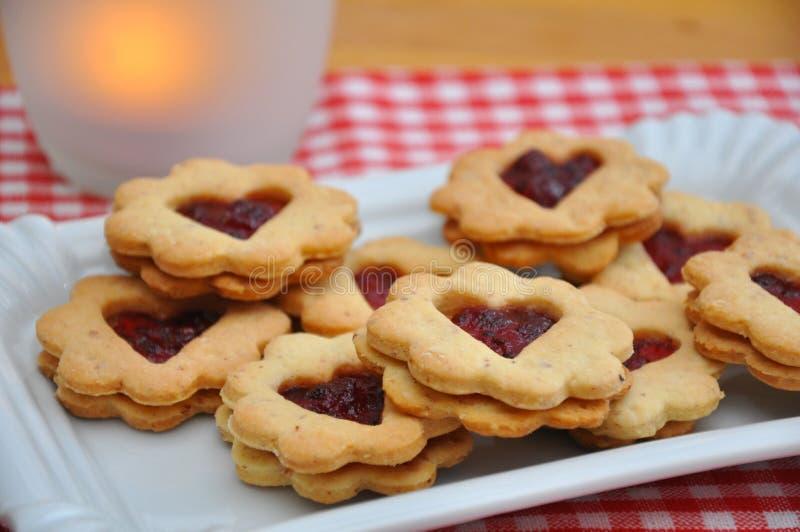 Biscuits de Linzer photographie stock libre de droits