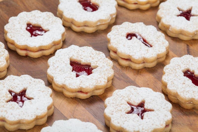 Biscuits de Linzer photos libres de droits