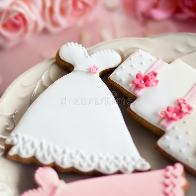 Biscuits de mariage photographie stock