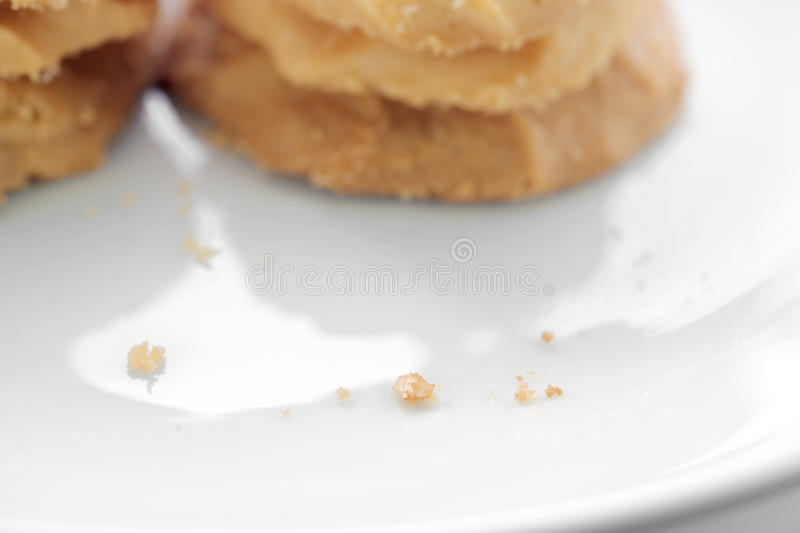 Biscuits de miette image stock