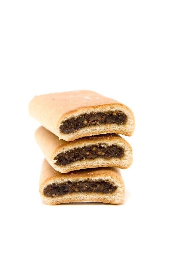 Biscuits de Newton de figue images libres de droits