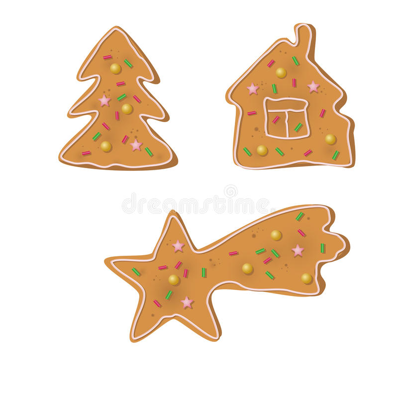 Biscuits de Noël illustration stock