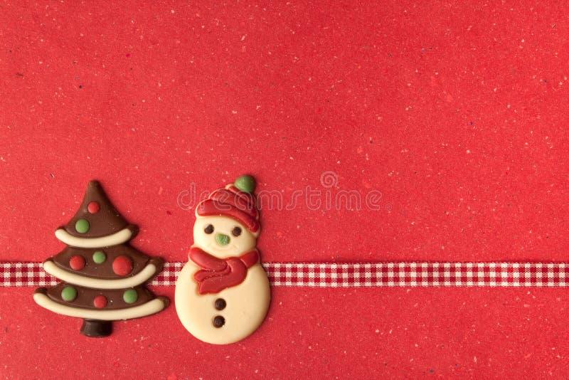 Biscuits de Noël avec la belle bande photo libre de droits