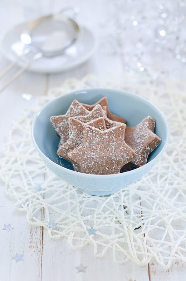 Biscuits de Noël de chocolat images stock