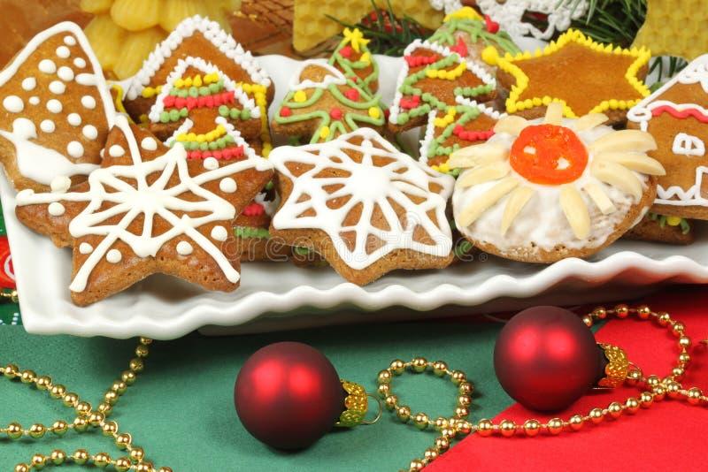 Biscuits de Noël de pain d'épice images libres de droits