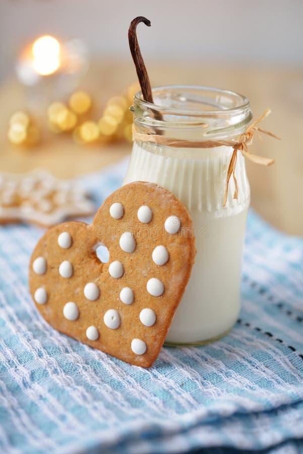 Biscuits de Noël pour Santa photographie stock