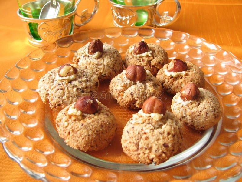 Biscuits de noix images stock