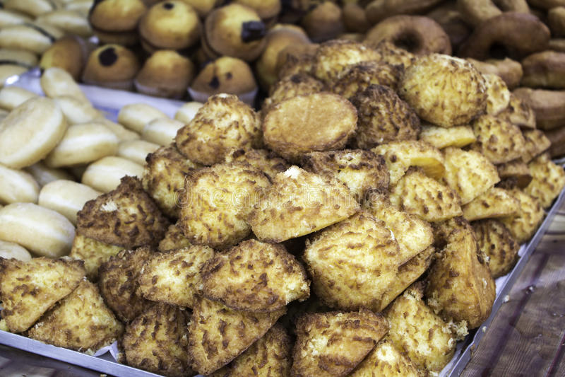 Biscuits de noix de coco photographie stock