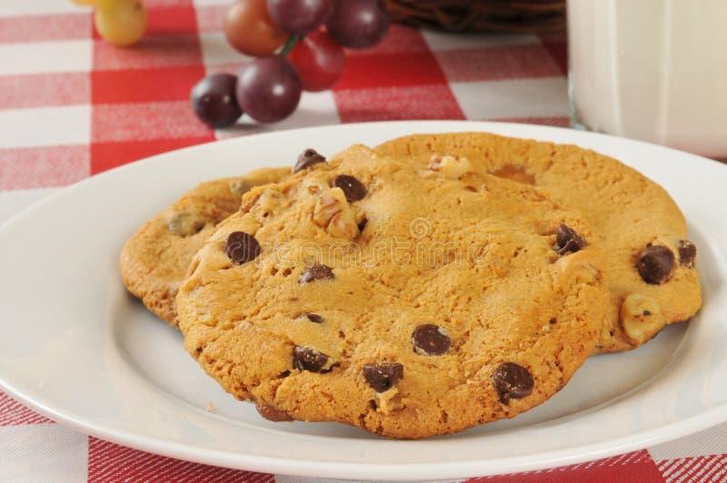 Biscuits de noix de puce de chocolat photographie stock