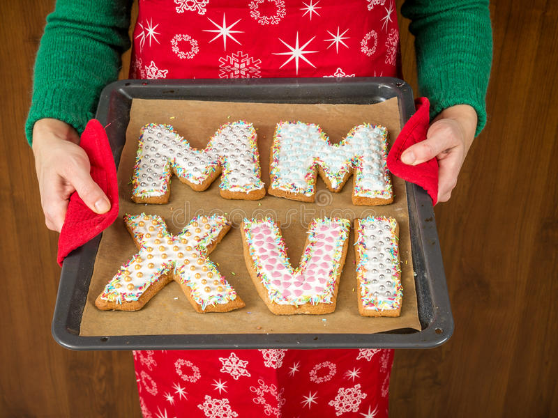 2016 biscuits de nouvelle année photos libres de droits