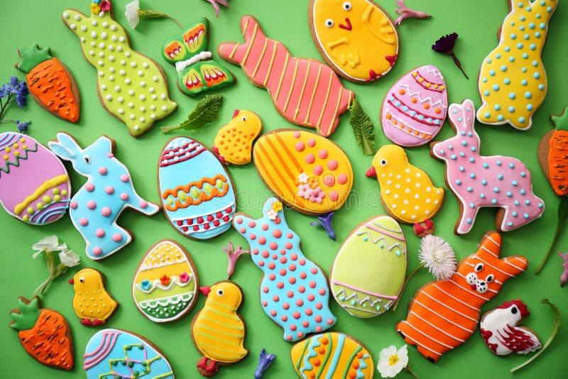 Biscuits de Pâques Vue supérieure photographie stock libre de droits