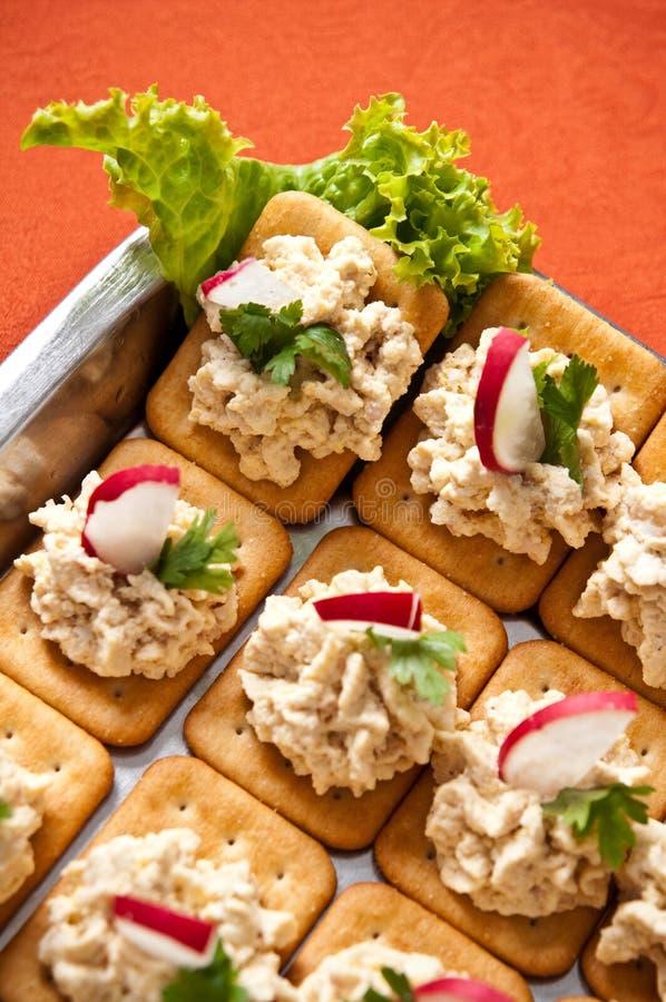 Biscuits de pâté de poissons photos libres de droits