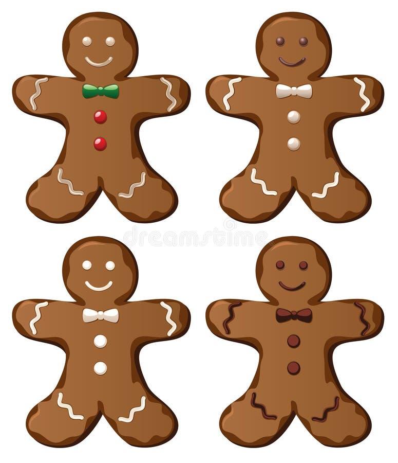 Biscuits de pain d'épice illustration stock