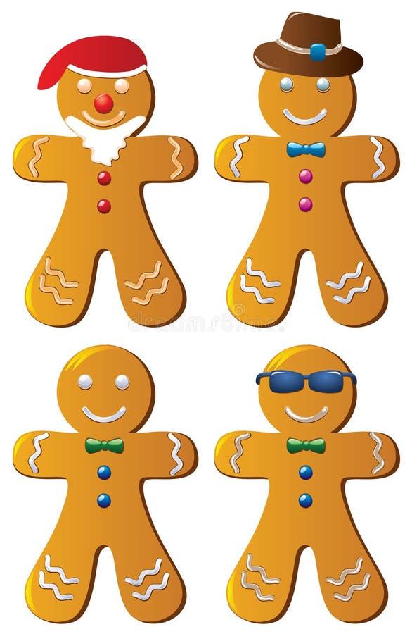 Biscuits de pain d'épice illustration libre de droits