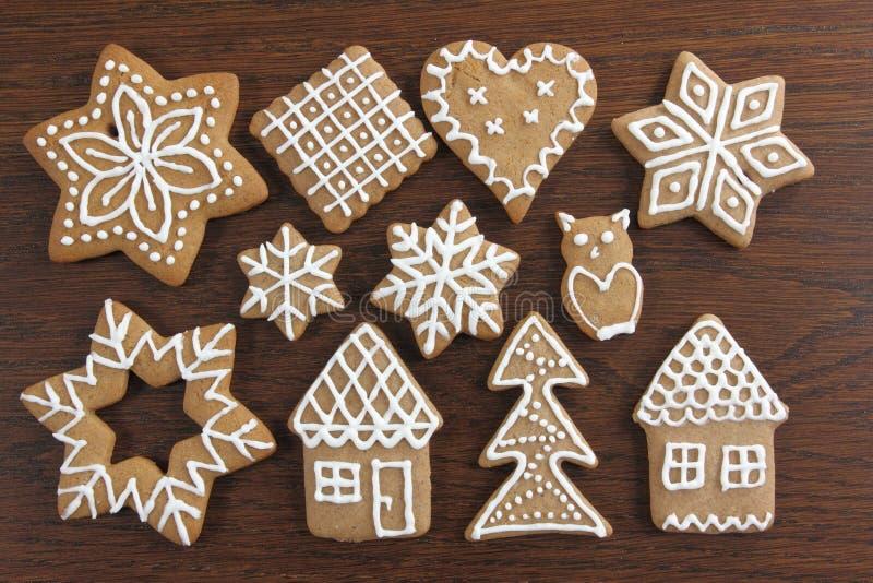 Biscuits de pain d'épice photographie stock libre de droits