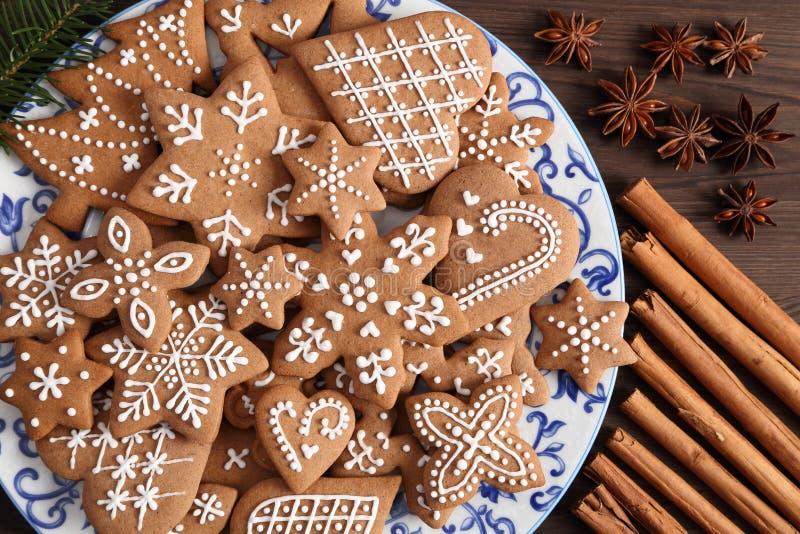 Biscuits de pain d'?pice photo stock